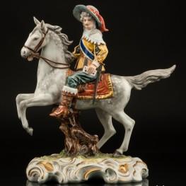 Арамис (кавалер с письмом на коне), Unterweissbach, Германия, 1960 гг